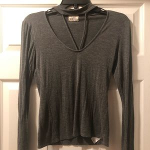Project Social T- Long Sleeve Gray Top Size XS